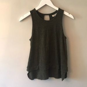 Madewell olive green tank top- size sm